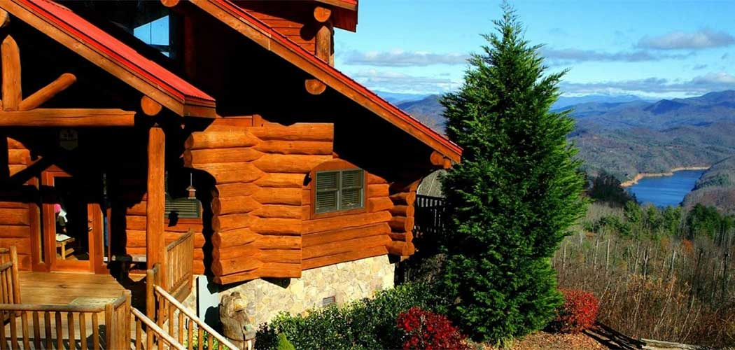 Fontana realty lakefront property in the great smoky for Watershed cabins lake fontana view